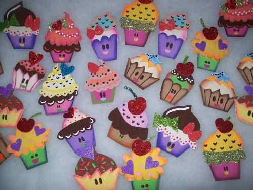 Decoraci nes de ba o en foami imagui amo los cupcakes - Decoraciones para banos ...