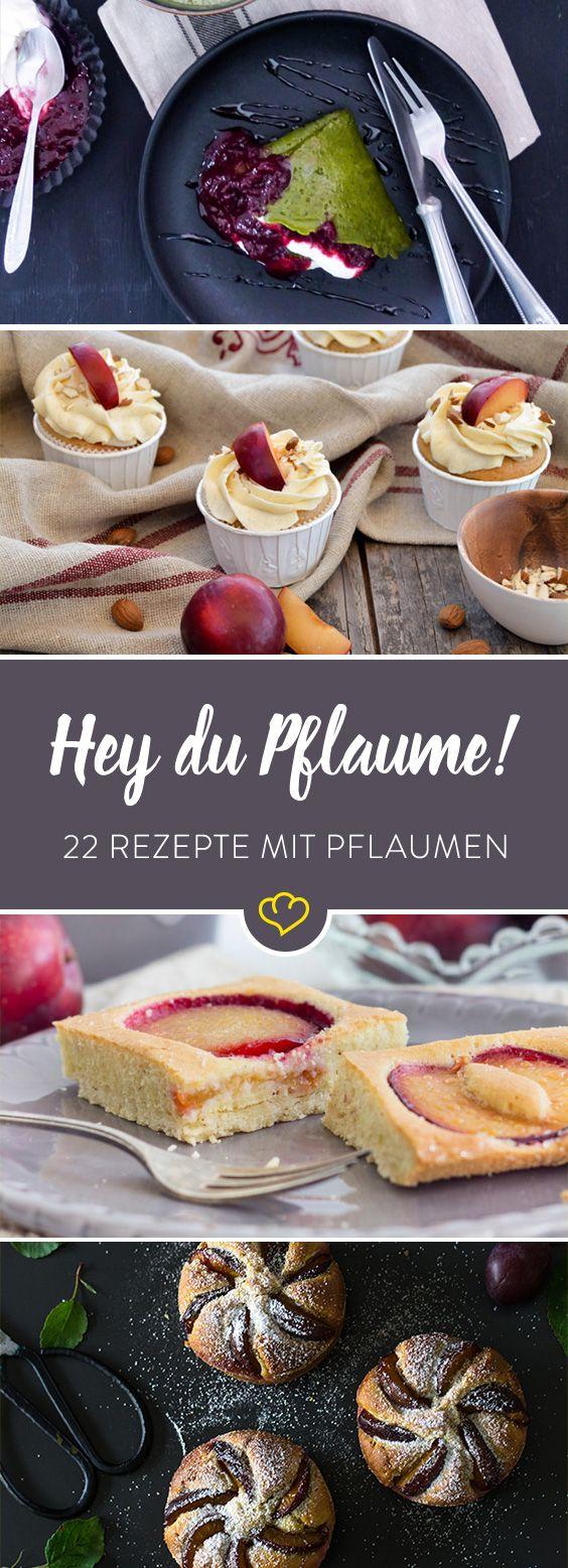 Pflaumen gibt es nur im Herbst? Nööö ... bei uns gibt es die süßen Früchtchen auch schon im Spätsommer - als Kuchen, Marmelade und Eis.