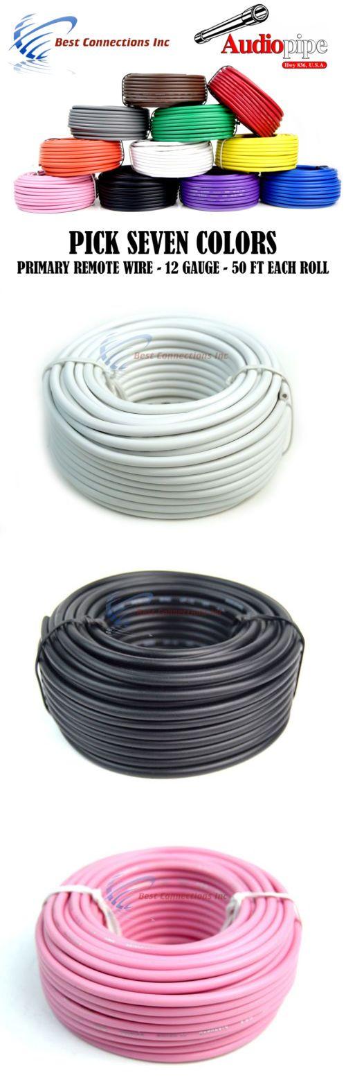 Power and Speaker Wire: 10 Ga Gauge 50 Ft Rolls Primary Auto Remote ...