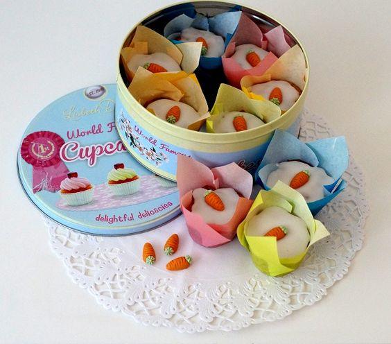 Fabulöse und total leckere Möhren-Nuss-Muffins, die außerdem super süß aussehen! Das Rezept findet ihr in meinem Blog.