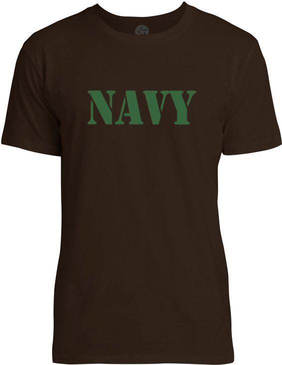 NAVY Stencil (Green) Mens Fine Jersey T-Shirt