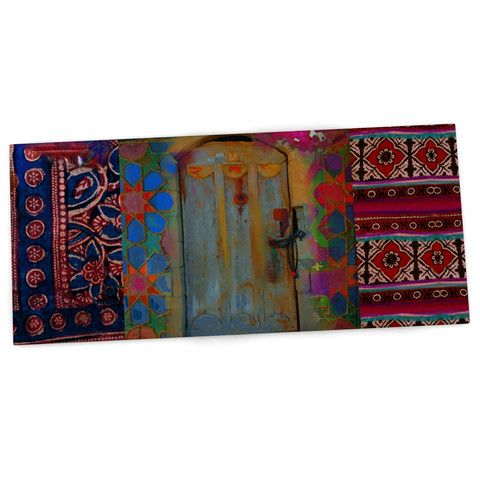 "S. Seema Z ""Ethnic Escape"" Ped Pink Desk Mat"