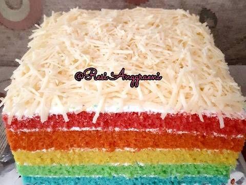 Resep Rainbow Cake Ny Liem Oleh Resi Anggraeni Resep Kue Pelangi Resep Pewarna Makanan