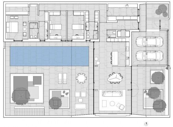 Plano de casa de un piso de 320 metros cuadrados plantas - Plano piso 40 metros cuadrados ...