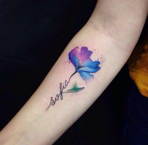 Pin En Tatuajes De Flores Con Nombres