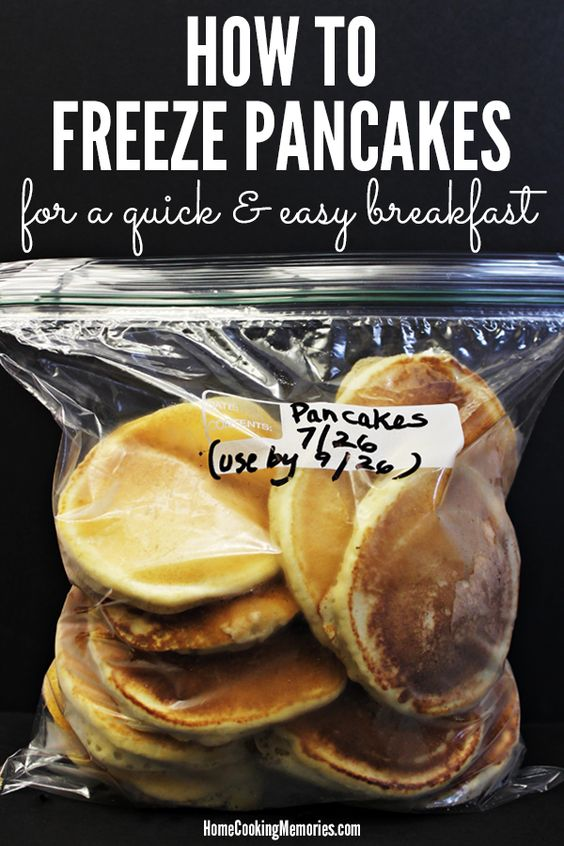 Steps for how to freeze pancakes for a quick and easy breakfast, even on busy weekday mornings. It's a cheap breakfast idea too - use homemade pancake mix or boxed, whatever works for you.