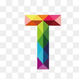 Letter T Colorful Vector Diagram Decorate Png Decoration Png Graphics Vector Diagram Png Decoration Graphics Colorful Clip Polygon Art Clipart Letters Letter T