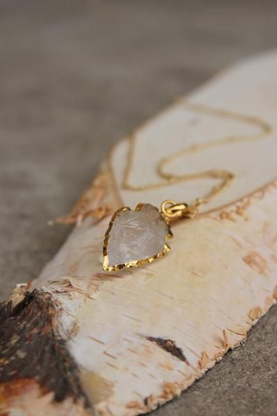 Arrowhead Druzy Necklace