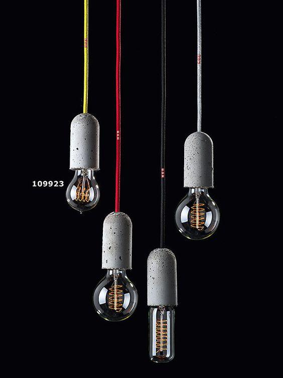 nud lampe mit beton fassung deckenlampe sofort lieferbar leuchten pinterest. Black Bedroom Furniture Sets. Home Design Ideas
