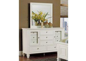 Sandy Beach White 11 Drawer Dresser, /category/bedrooms/sandy-beach-white-11-drawer-dresser-4.html