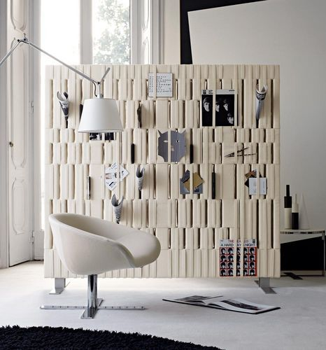 paravent contemporain en feutre en acier softwall by c. Black Bedroom Furniture Sets. Home Design Ideas