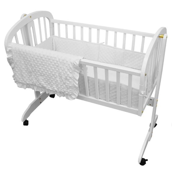 American Baby Company Heavenly Soft Three Piece Minky Dot Cradle Set & Reviews | Wayfair