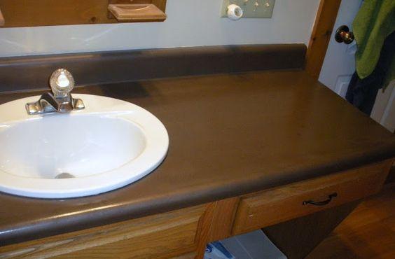 Redo your bathroom countertops yourself