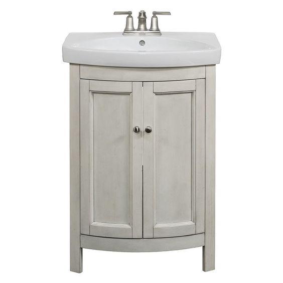 Allen Roth Moravia Antique White Integral Bathroom