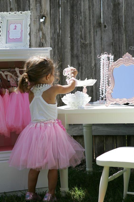 tea party dress up vanity area