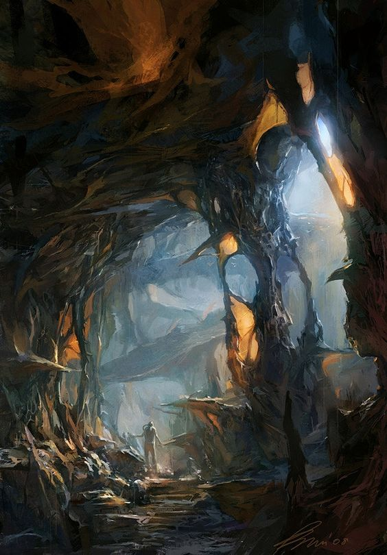 Conceptual art by min yum drawings illustrations pinterest art conceptuel grottes et - The hideout in the woods an artists dream ...