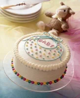 Baby Bib Shower Cake