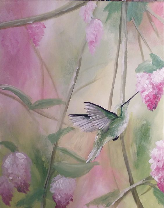 Heartbeat of a Hummingbird at Captain's Cove - Paint Nite Events
