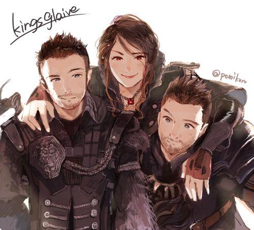 Nyx, Crowe, and Libertus, Kingsglaive: Final Fantasy XV.
