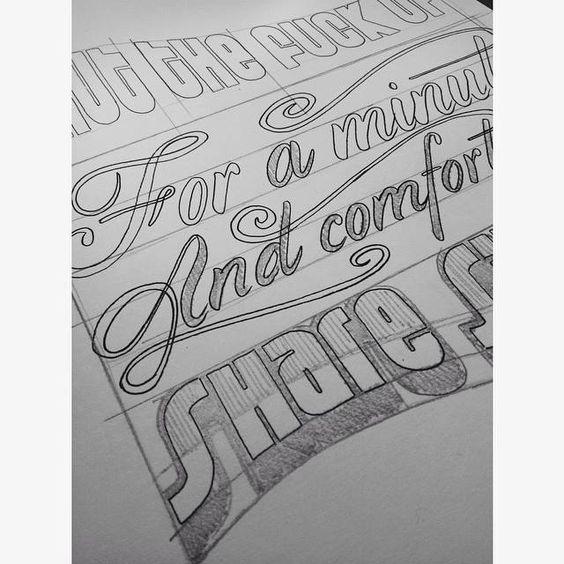 Proceso de una pieza por encargo #lettering #sketch #alejandroolarteletteringstuff #aolartelettring #pulpfiction