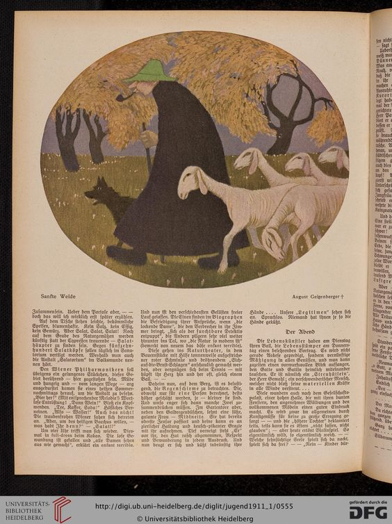 Jugend, German illustrated weekly magazine for art and life, Volume 16.1, 1911.