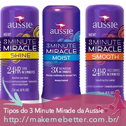 Qual é o melhor para o seu cabelo ? http://makemebetter.com.br/os-diferentes-tipos-do-3-minute-miracle-da-aussie/
