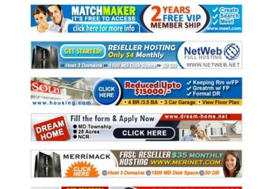 Get 4  attractive  ad banners for your site