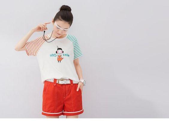 Nhập hàng Áo thun nữ tay sọc hoạt hình đáng yêu bán sỉ Xem thêm tại http://dathangtaobao.vn/ao-thun-nu-tay-soc-hoat-hinh-dang-yeu/