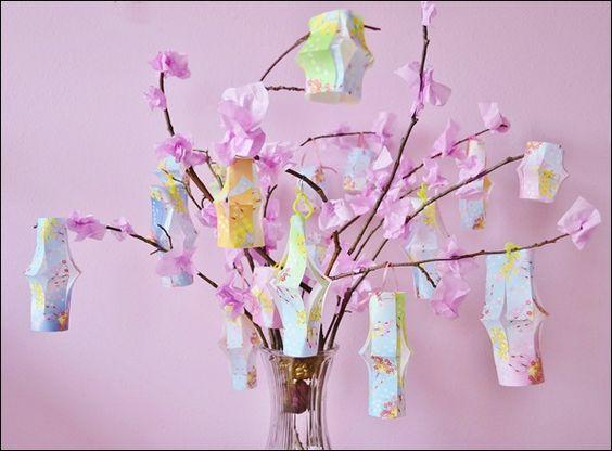Cherry Blossom Origami Lantern Tree // Julia's Bookbag ... - photo#15