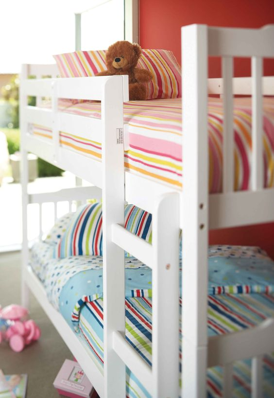 Bedding :: Kids Bedroom :: Jessica Bunk Bed By Nero Furniture   Harvey  Norman New Zealand | Girls Bedroom Ideas | Pinterest | Bunk Bed, Bedrooms  And Spaces