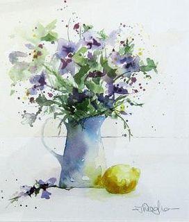 Blue jug with lemon | Tracy Waghorn