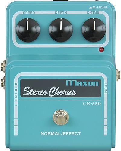 Maxon Vintage Series CS550 Stereo Chorus Pedal. Maxon is known for their expensive line of vintage sounding effects, and the CS550 Stereo Chorus is no exception.