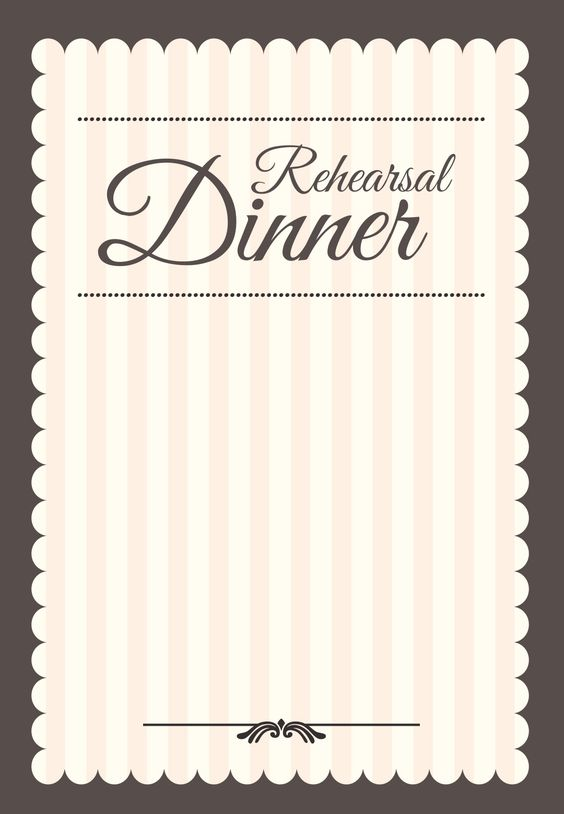Stamped Rehearsal Dinner Free Printable Rehearsal Dinner Party – Dinner Party Invitations Templates