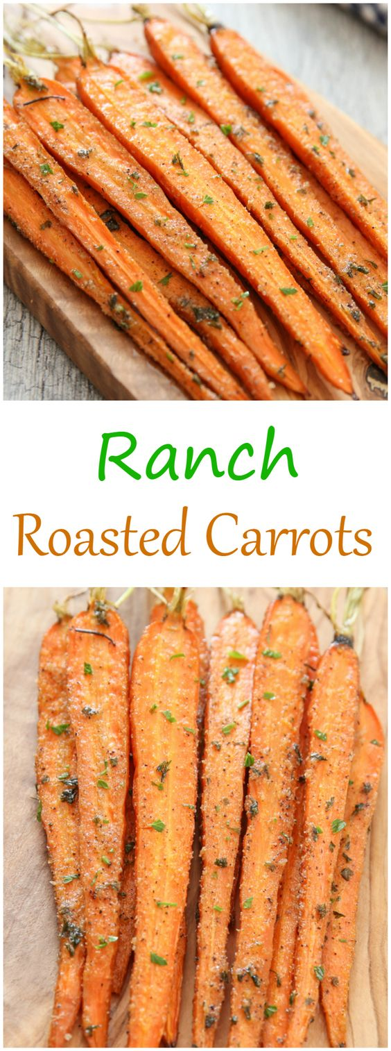 Ranch Roasted Carrots. An easy vegetable side dish made with a few basic pantry…