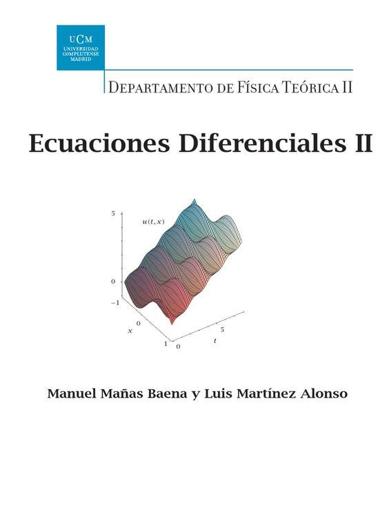 Resultado de imagen de Ecuaciones Diferenciales II. mañas