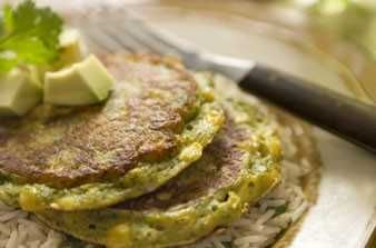 sweet corn cakes and lime cilantro rice