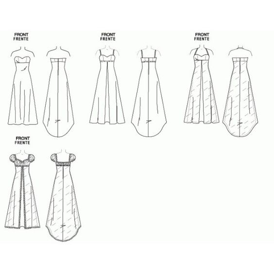 Patron couture gratuit robe de soir e pinteres - Patron de robe de soiree ...