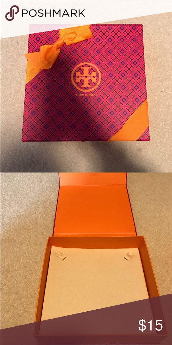 Tory burch necklace box. Great condition. Magnet closure. Tory Burch Other