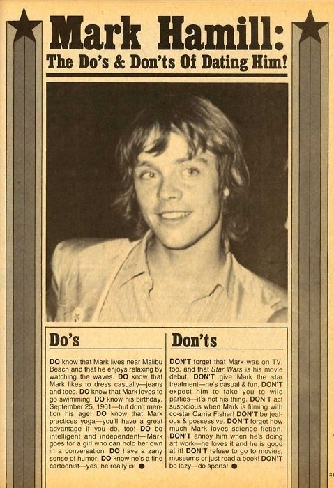 Mark Hamill: The Do's & Don'ts Of Dating Him