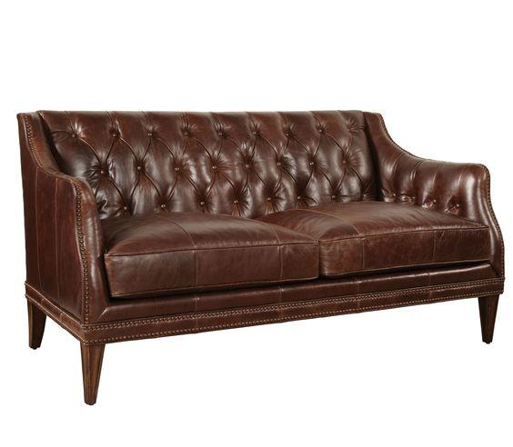 Kennedy Leather Settee Loveseat