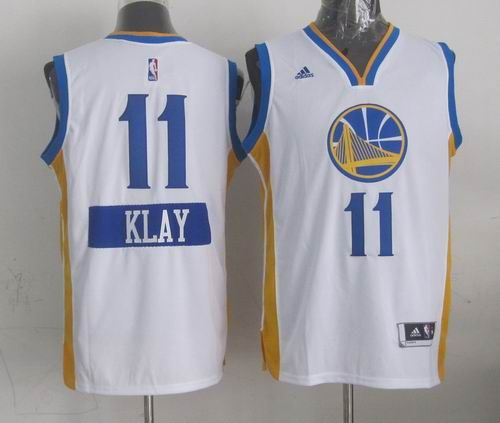 ... NBA Jersey Golden State Warriors 11 Klay Thompson white 2014-15  Christmas Day Swingman Road Jersey 24.0 ... 66f808be2