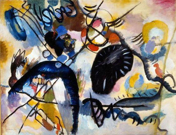 Wassily Kandinsky, Macchia nera I,1912, olio su tela, San Pietroburgo, Museo di Stato Russo © Wassily Kandinsky, by SIAE 2012