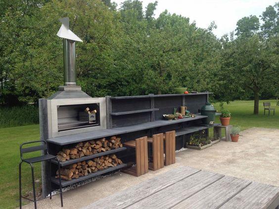 WWOO buitenkeuken met Big Green Egg en Braai_3 Kesäkeittiö - outdoor küche mauern