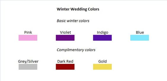 Winter wedding colors and ideas | Budget Brides Guide : A Wedding Blog