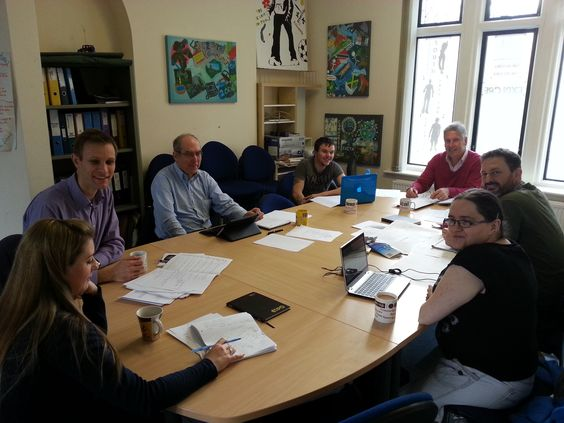Meet some of our trustees who are having a board meeting.