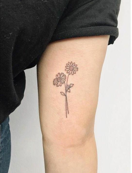 Riityeyayeѕt Carmelizabethhh Smalltattoodesigns Trendy Tattoos Daisy Flower Tattoos Tattoos