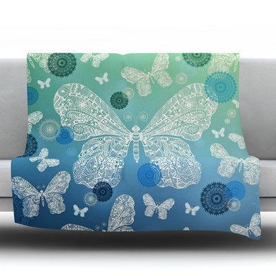 KESS InHouse Butterfly Dreams by Monika Strigel Fleece Throw Blanket
