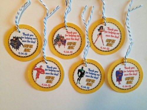 Justice League Custom Birthday Party Thank you Gift  | DivineDecorations - Seasonal on ArtFire