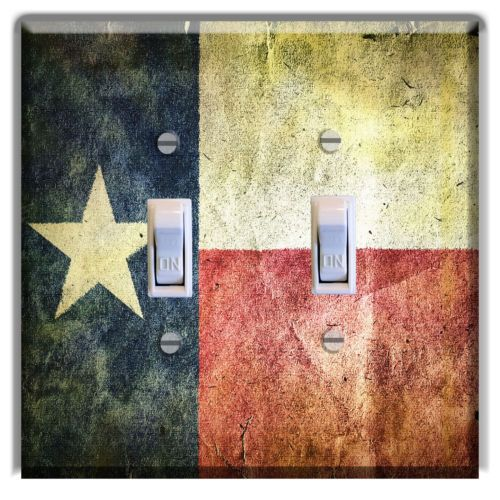 Texas-Flag-Rustic-LIGHT-SWITCH-PLATE-Cover-Wall-Home-Decor