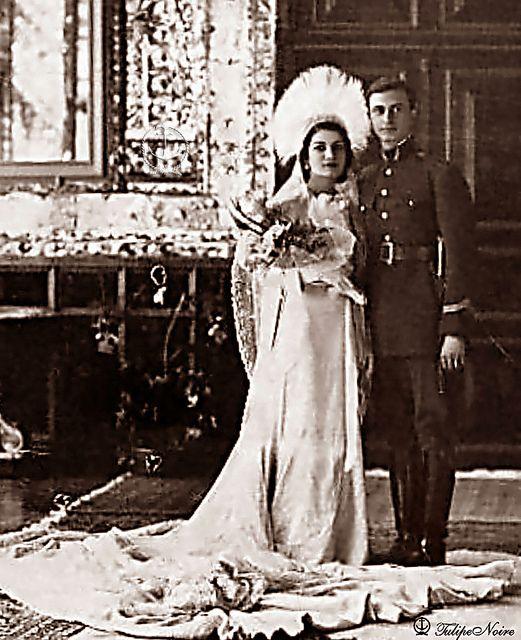 H.H. Princess Ashraf Pahlavi with her first Husband; Ali Mohamed Qavam - The Wedding Day In 1936: